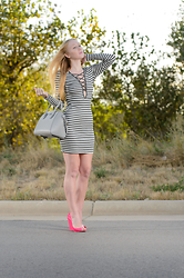 Jacqueline Rose - Fashion Nova Stripe, Givenchy Leather, Jimmy Choo Patent - Fashion Nova