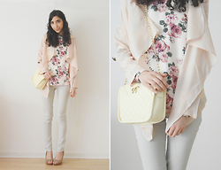 Neno Neno - Wholesalebuying Jacket, Dressin Floral Top, Dressgal Cross Body Bag! - Pastel and Neutral