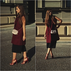 Catherine - See By Chloé Bag, Zara Sleeveless Coat, Asos Culottes, Zara Shoes, Zara Top - Variation des Culottes