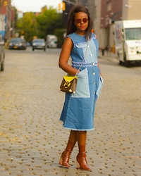Liz Lizo - Louis Vuitton Bag - Patchworked in Denim