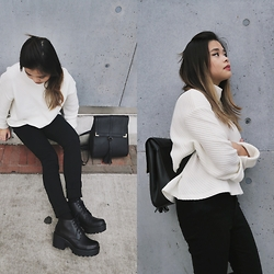 Joie Lee - H&M Sweater, Vagabond Boots - Slate