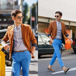 Adi SunriseInc - Topman Pants, Asos Shirt, H&M Blazer, Frank Wright Shoes - Milan Again