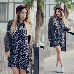 Karen Or - Madewell Hat, Free People Jacket, Yarin's Boutique Top, Asos Shoes - Leopard Print Hoodie