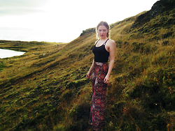 Emma Schwarz - Monki Bathing Suit, Topshop Trousers - Patterns of Iceland