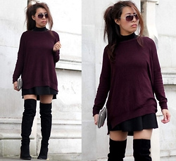 Sindy N - Jumper, Skirt, Boots - Knee High Boots