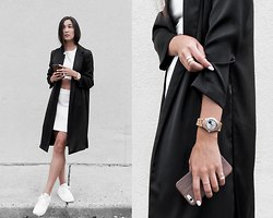 Kristina - Forever21 Kimono, Hyphen Crop, Hyphen Skirt, Rocksbox | Code: Dayinmydreamsxoxo For A Free Month! Stack Rings, Jord Timepiece, Wanderer Phone Case, Nike Trainers - Where we go