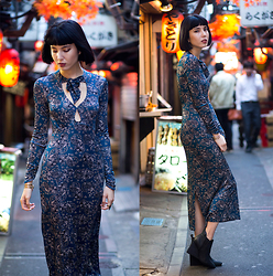 Samantha Mariko - Free People Dress, Free People Booties - Romanticism in the city pt. II