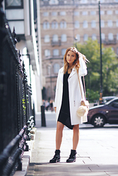 Noor G. - Finders Keepers The Label Coat, Keep Sake The Label Dress, Kennel + Schmenger Ankle Boots, Chanel Mini Flap Bag - LATE AFTERNOON