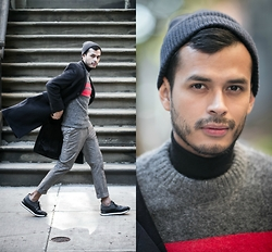 Jorge Gallegos - H&M Retro Sweater, H&M Turtleneck, H&M Topcoat, Greats Sneakers - The Beckham Project