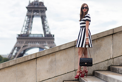 Barbora Ondrackova - Valentino Dress, Saint Laurent Tribute Heels - PARIS FASHION WEEK