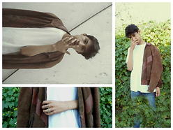 ALEXISCOSME D. -  - WELCOME FALL | SUEDE JACKET | BROWN & WHITE