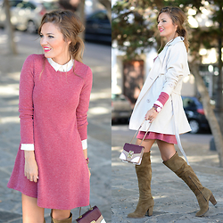 Helena Cueva - Quéguapa! Dress, Fashion Pills Trench, Zara Boots, Zara Shirt - New Trench