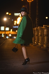 Emilija Vucinovska - Marella Boucle Coat, Mali Shoes Lady Crockos Boots, Marella Shoulder Bag - Like a Parisian