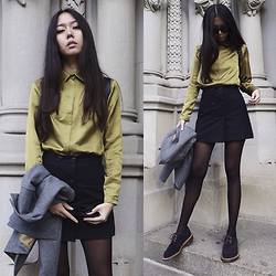 Aliya A - Somemoment Shirt, Dr. Martens Shoes, Somemoment Skirt - Silky