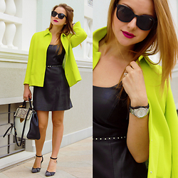 Carmen Antal -  - Lime green and studded details for an unforgettable look