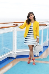 Olivia Yuen - Zara Dress, Zara Jacket, Baublebar Earrings, Zara Bag, Zara Shoes - Sea You Soon
