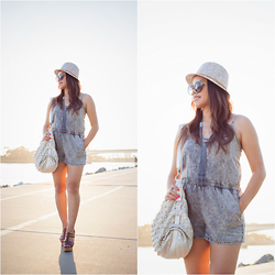 Lily S. - Romper, Hat - Casual Cool // Instagram @pslilyboutique