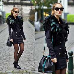 Ruxandra Ioana - Lovelywholesale Trench Dress, Lovelywholesale Boots - Military