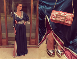 Amina Allam - Fendi Clutch, Amina Allam By Caftan.Me Caftan, Prada Peep Toe Pumps - Ready for my friend's wedding