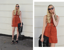 Laura Rogan - Boohoo Sunglasses, Asos Dress, Asos Bag, Nelly Shoes - Suede Meets Leather