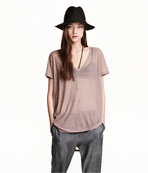 Laura Lambert - H&M Braided Wool Hat, H&M See Through Shirt, H&M Pants - @hm @lookbook #ootd #lotd