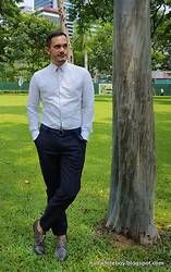 Armel M. - Celio Shirt, Uniqlo Windowpane Print Joggers, Zara Ombre Lace Ups - Joggers for the office