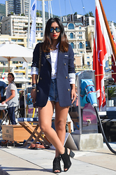 Rosa Pel - Yesstyle Blazer, Levi's® Denim Short, Urban Outfitters Boots Cut Out - Monaco yacht show 2015
