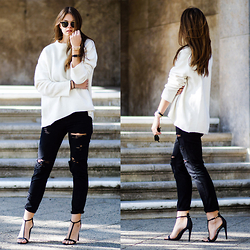 Jacky - Zara Oversized Sweater, One Teaspoon Jeans, River Island High Heels - Sweater Weather