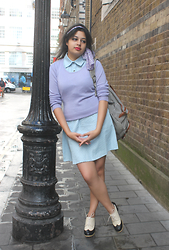 Rena Freefall - Wool Overs Jumper, Dress, Yes Style Oxford Heels - Good Girls of London
