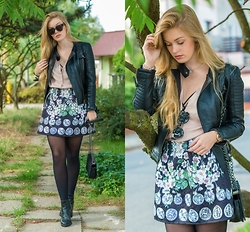 Marta Caban - Modekungen Jacket, Dresslink Skirt, Dressin Bag, H&M Shoes - FLORAL PRINCESS