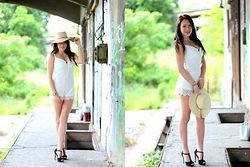 Melli DeLaVie - Pimkie Hat, Bershka Jumpsuit, Pimkie Heels, D&G Watch - Miss the Summer Days