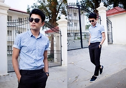 Goku Shrestha - Topman Shirt, No.7 Watch, River Island Shades, Locally Tailored Trousers - Where Are You Now?
