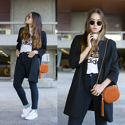 Romina Ch - Adidas Top, Gucci Bag, Adidas Shoes, Zara Coat, Ray Ban Ray Ban Sunglasses - Lausanne Style