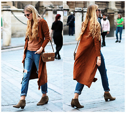 Marta M - Iclothing Jacket, Marypaz Bag, Mango Boots - Long cardigan