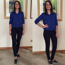 Valeria - Sheinside Blouse, Tally Weijl Pants, Ovs Shoes - Casual Blue