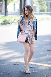 Raquel Cañas - Funky Soul Romper, Kenneth Cole Bag - ROMPER ON FALL
