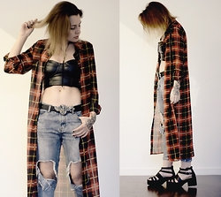 Talitah Sampaio - Pinkvanilla Plaid, Choies Jeans - People are Strange