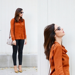 Silvia Rodriguez - Julio Blouse, Zara Mini Bag, Calvin Klein Sunglasses - Bow blouse