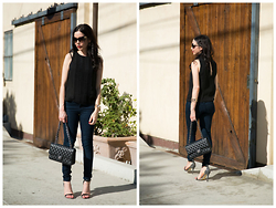 Lisa Valerie Morgan - Alice + Olivia Top, Chanel Bag, J. Crew Denim - Fall's Black