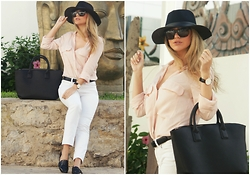 Anita - Zara Shirt, Mango Hat, Mango Bag, Daniel Wellington Watch, Marc By Jacobs Sunglasses - Casual Look