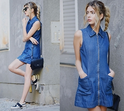 Ebba Zingmark - Topshop Dress, Monki Bag, Intentionally Blanc Shoes, Gentle Monster Glasses, Jane Koenig Earrings - Around the corner from my place
