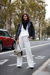 Isabella Pozzi - Acne Studios Patchwork Leather Jacket, Gucci Dionysus Bag, Faux Fur Collar (Item Nr Sv009878) - Winter White