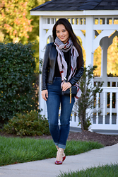 Kimberly Kong - Charlotte Russe Scarf, Faux Leather Jacket, Aeropostale Jeans, Valentino Inspired Shoes, Ysl Bag - 8 Pieces, 8 Ways: Part 4