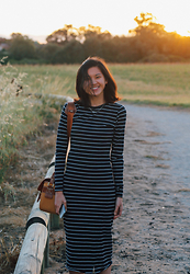 Sue Chung - Country Road Stripe Dress, No More Ugly Camera Bag - October girl