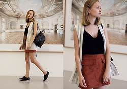Dasha Shcerbakova - Asos Skirt, Asos Bag, H&M Top, Asos Vest - Something new