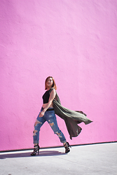 Cindy C. - Styles For Less Vest, Foreign Exchange Jeans, Pink Basis Heels - CASTAWAY