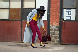 Melody Jacob -  - YELLOW KNITWEAR AND FEDORA