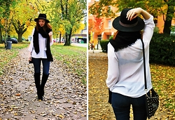 Jana W - Primark Blouse, Alma En Pena Boots, Primark Bag - Casual Autumn Days