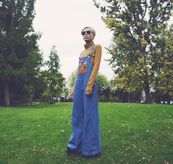 Milex X - Marc By Jacobs Sunglasess, Celiab Dungarees - Autumn leaves float around
