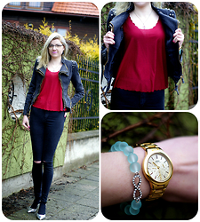 Kamila Krawczyk - Lookbookstore Jacket, Topshop Top, Topshop Jeans, Sammydress Shoes, Lorus Watch, Agnesart Bracelet - A new life